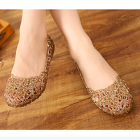 Women Casual Jelly Tenis Mesh Flats