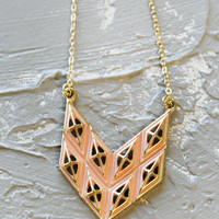 Geranium: Aiko Chevron Necklace