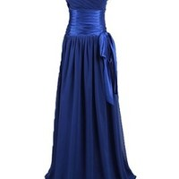 Sunvary 2013 New Spagehtti Strap Ruffle Long Evening Dresses Prom Gowns with Sequins - US Size 8-Royal Blue