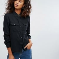 Noisy May Denim Shirt at asos.com
