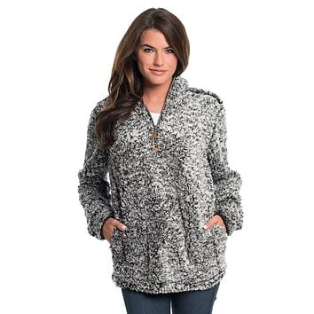 Heather Sherpa Pullover with Pockets in Black by The Southern Shirt Co.