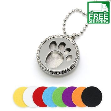 Cute Dog Paw Aromatherapy Locket Essential Oil Diffuser
