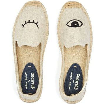 Soludos Jason Polan Wink Smoking Slipper Espadrille Flats | Bloomingdales's