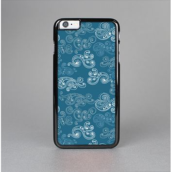 The Seamless Blue and White Paisley Swirl Skin-Sert Case for the Apple iPhone 6