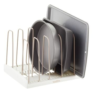 YouCopia White StoreMore Adjustable Cookware Rack