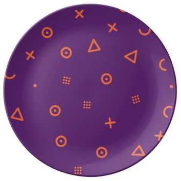 Happy Particles Purple Plate