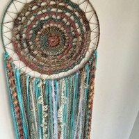 Large dreamcatcher,Hand Crocheted dreamcatcher, Wall Hanging, Home decor,