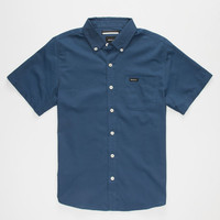 Rvca That'll Do Oxford Boys Shirt Navy  In Sizes
