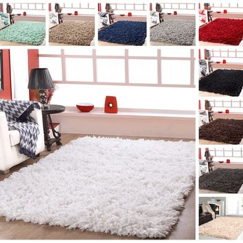 Affinity Home Collection Cozy Shag Area Rug (8' x 10') | Overstock.com Shopping - The Best Deals on 7x9 - 10x14 Rugs