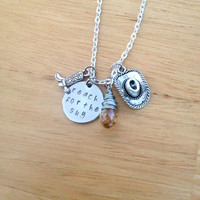 Hand Stamped Disney Toy Story Inspired Reach For The Sky Necklace, Woody Necklace, Cowboy Necklace