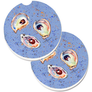 Oyster Set of 2 Cup Holder Car Coasters 8456CARC