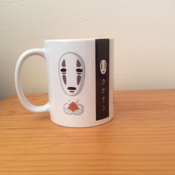 Spirited away noface, faceless, Kaonashi, No face 11oz anime mug / Cup coffee tea cute anime kawaii cartoon fan fandom