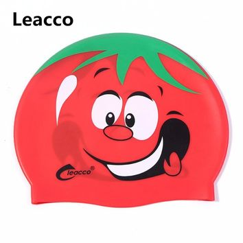 Lovely Waterproof hat in pool Diving Swimming hat silicone swimming cap for Children kids Girls Boys Adults Cartoon swim caps