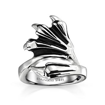 Mens Biker Gothic Loin Bear Wolf Dragon Claw Band Ring Stainless Steel