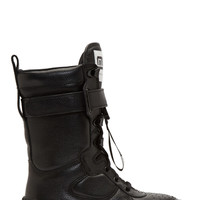 Marc By Marc Jacobs Black Leather Board Boot