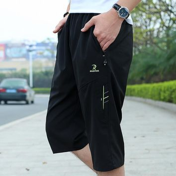Mens Cargo Shorts Casual Multi Pocket Summer Man Seven Short Pants Military Big Size 2017 Brand Beach Loose Shorts Men Wicking