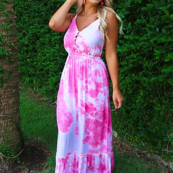 Weekend Wishes Maxi: Pink/White