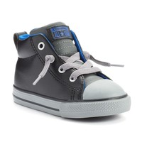 Converse All Star Street Mid-Top Sneakers for Toddler Boys (Black)