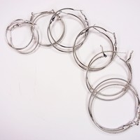 Large Silver Hoop Earrings