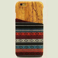 Ethnic Style Geometry Stripe iPhone 6 6s Plus Case Handmade Cloth Cover Gift-172