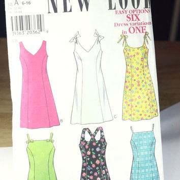 NewLook / Sewing Pattern / Simplicity / Women's dress / size A 6-16 / used cut to size 6 / easy / 6 looks