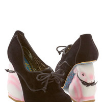 Irregular Choice Statement Look Who's Hare Heel in Black