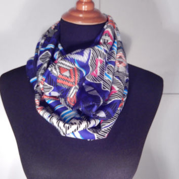 Infinity Scarf, colorful scarves, blue infinity scarf, scarves and wraps, Summer scarves, accessories, fashion scarf, blue accessories