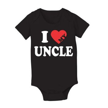 I Heart My Uncle Baby One Piece