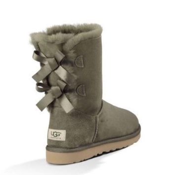 UGG Bailey bow forest green boots