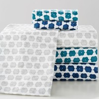Jewel Tones Flannel Sheet Set