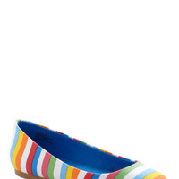 BC Shoes A Night to Remember Flat in Stripes | Mod Retro Vintage Flats | ModCloth.com