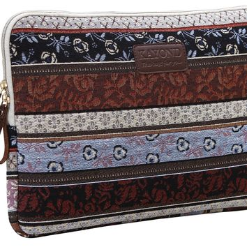 Kayond®new Bohemian Style Jacquard Embroidering Fabric 15-15.6 Inch Laptop / Notebook Computer / MacBook / MacBook Pro / MacBook Air Sleeve Case Bag Cover((Classic 15-15.6)