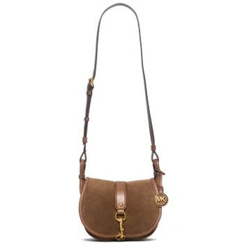 Jamie Medium Suede Crossbody | Michael Kors