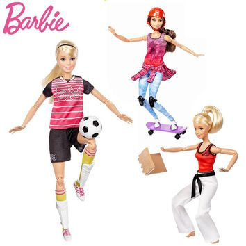 Original Barbie Doll Move Sports Set 3 Styles Silicone Reborn Baby Dolls.  1 Piece