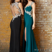 Sheer Back Madison James Prom Gown 15-157