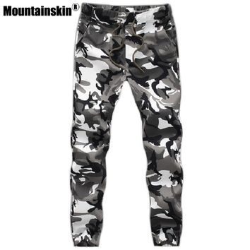 Mountain skin Camouflage Tactical Pants Mens Joggers Camo Pants Mens Sweatpants Army Slim Fit Skinny Trousers Male 5XL JA269