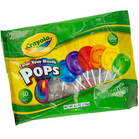 Crayola Color Your Mouth Lollipops: 30-Piece Bag