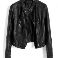 Black Motorcycle Jackets in PU Leather