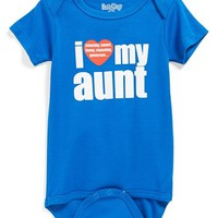 Infant Boy's Sara Kety Baby & Kids 'I Love My Aunt' Bodysuit,