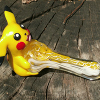 Custom Pikachu Pipe - Pokemon Pipe - Jimwillieminiatures
