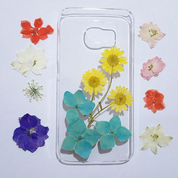 Clear Samsung Galaxy note 3 cover, Samsung Galaxy note 4 cover, pressed flower note 5 case, Galaxy note 5 flower, floral samsung galaxy case