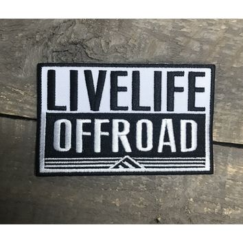 'Live Life Off-Road' Patch Decal