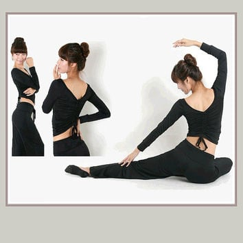 YOGA Aerobics Leotard Workout Clothes Set