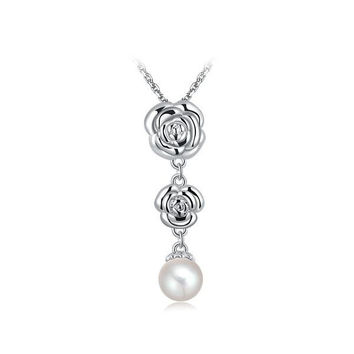 Shiny Stylish Gift Jewelry New Arrival Korean Luxury Accessory Floral Pearls Hot Sale Necklace [9281904324]