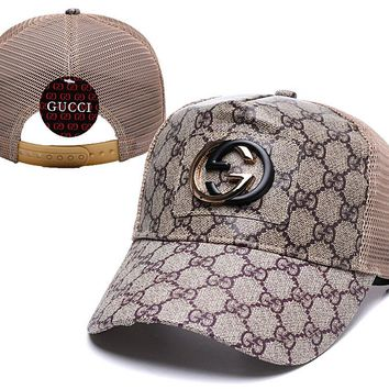 Gucci Nylon Brown Classic Baseball Cap Unisex Hat Summer Gift