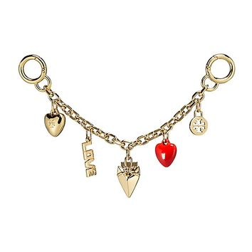 Tory Burch Heart Chain Key Fob
