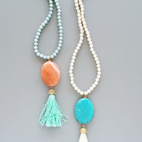 Kaleidoscope Tassel Necklace - in 2 colors