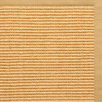 Sustainable Lifestyles Tan Sisal Rug with Honeycomb Cotton Border
