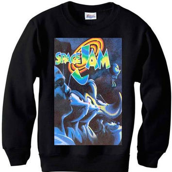 Space jam vintage spike lee MICHAEL JORDAN mars BLACKMON sweater sweatshirt nba bulls men retro grape xmas small-2xl