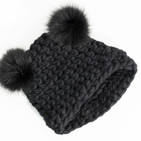 Mickey Mouse Beanie in Black